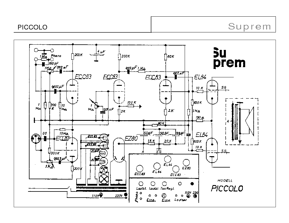 suprem piccolo sch service manual download schematics eeprom rh elektrotanya com