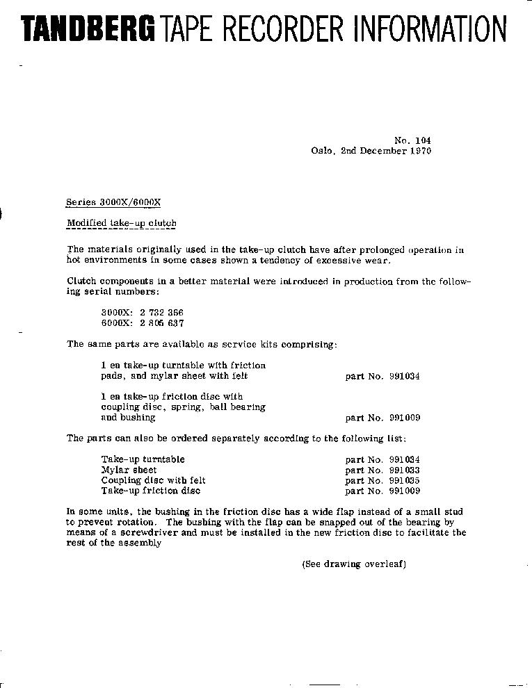 TANDBERG 9100X 9200XXD STEREO TAPE DECK LOGIC CIRCUITS 1975