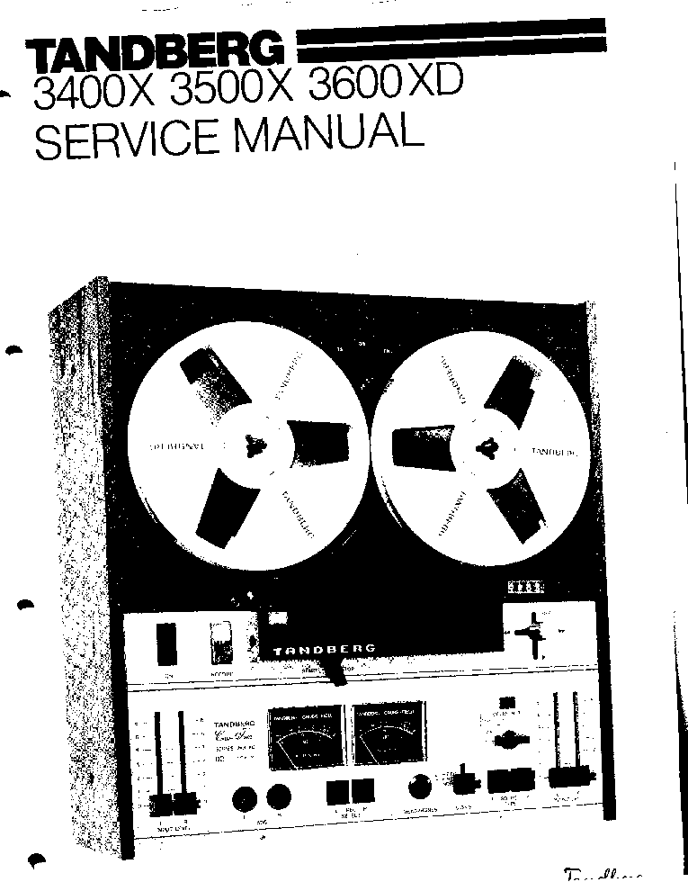 tandberg 3400x 3500x 3600xd tape recorder 1977 sm service manual download  schematics  eeprom