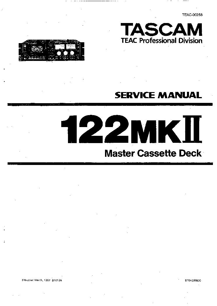 tascam 122mkii service manual download schematics eeprom repair rh elektrotanya com tascam 688 service manual tascam 103 service manual
