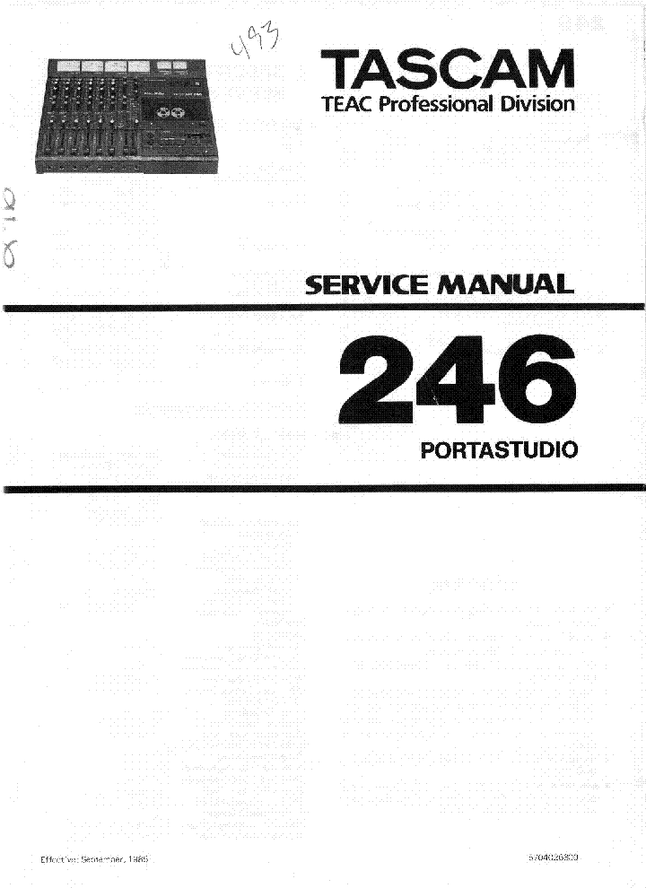 Tascam CD01 U Owners Manual