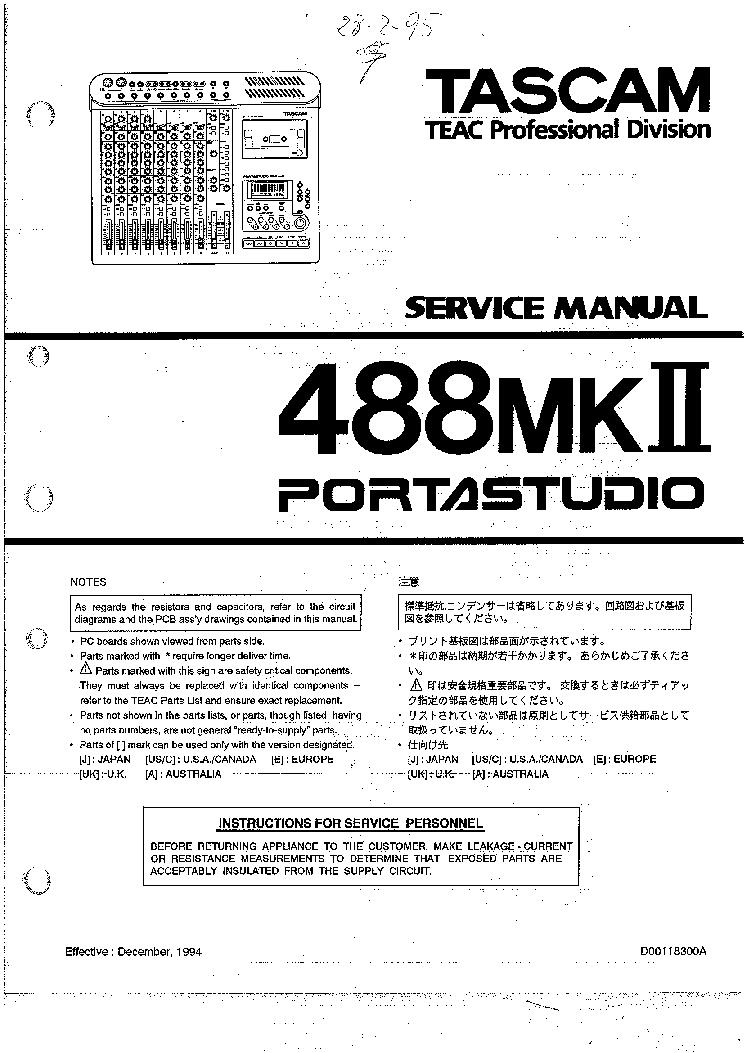 Tascam Porta One Manual Ebook