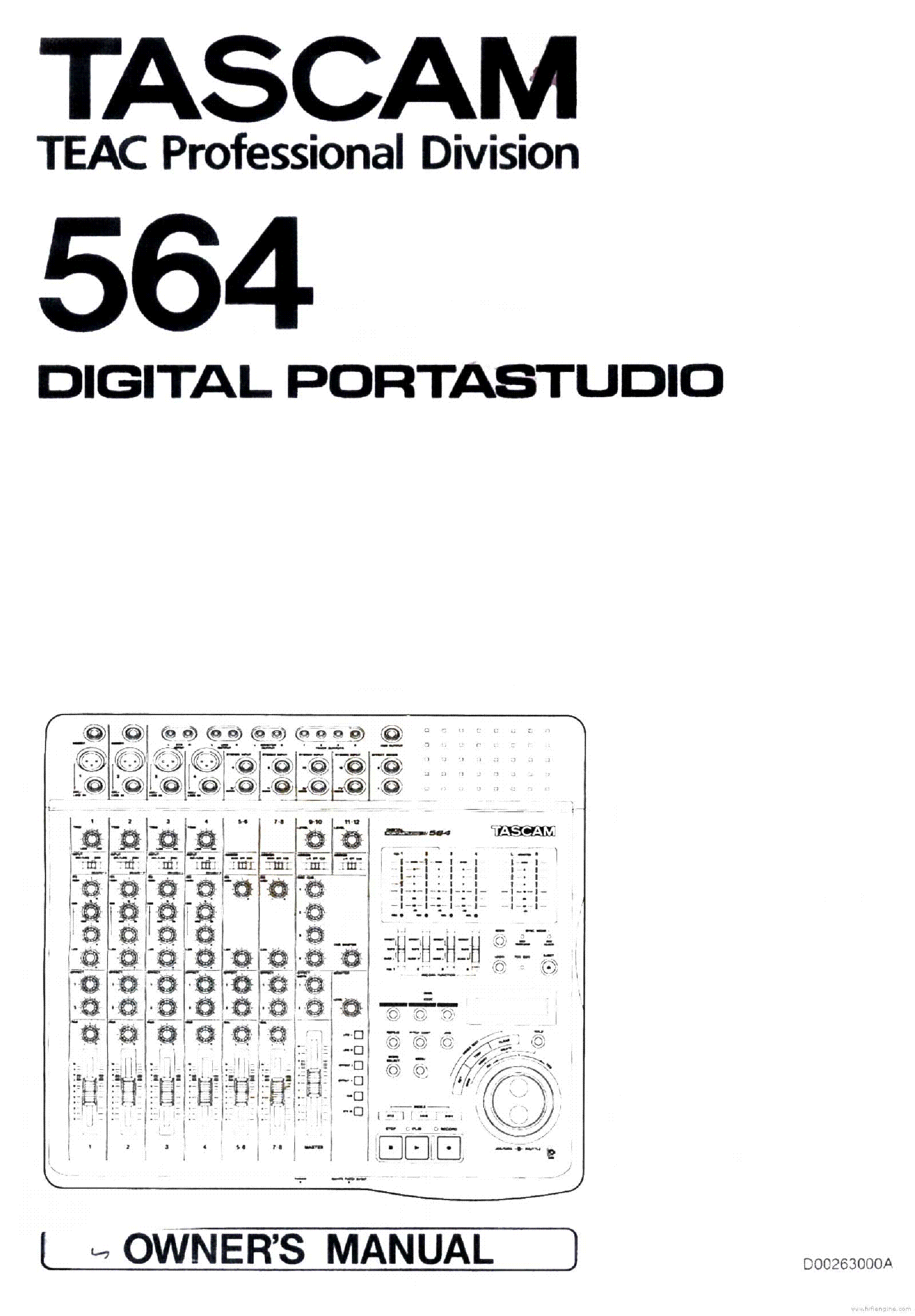 Tascam 564 Portastudio Service Manual Download  Schematics  Eeprom  Repair Info For Electronics