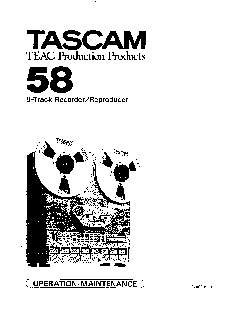 TASCAM 58 SM service manual
