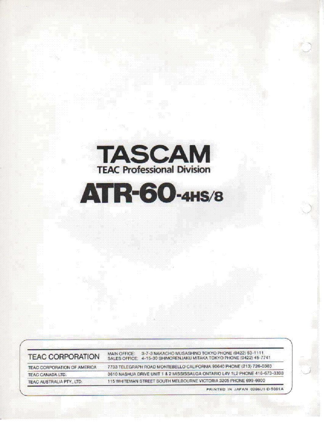 TASCAM CD-RW900 RW901 Service Manual download, schematics