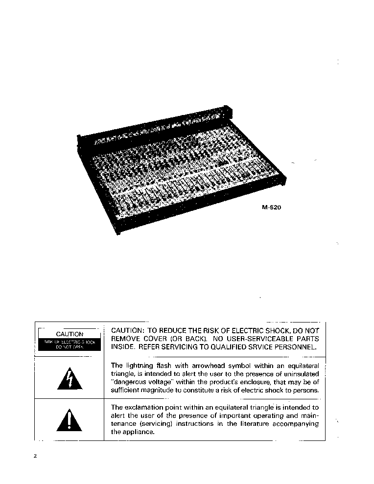 TASCAM M-512 M-520 MIXER Service Manual download, schematics
