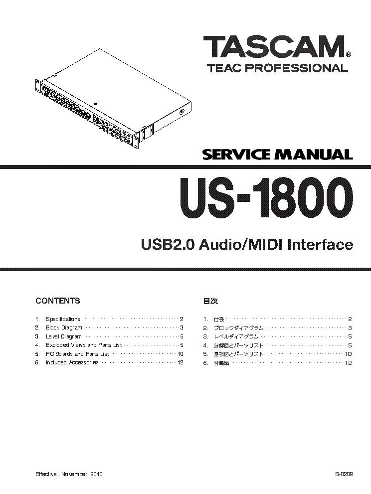 tascam us 1800 service manual download schematics eeprom repair rh elektrotanya com Trailer Wiring Diagram 3-Way Switch Wiring Diagram