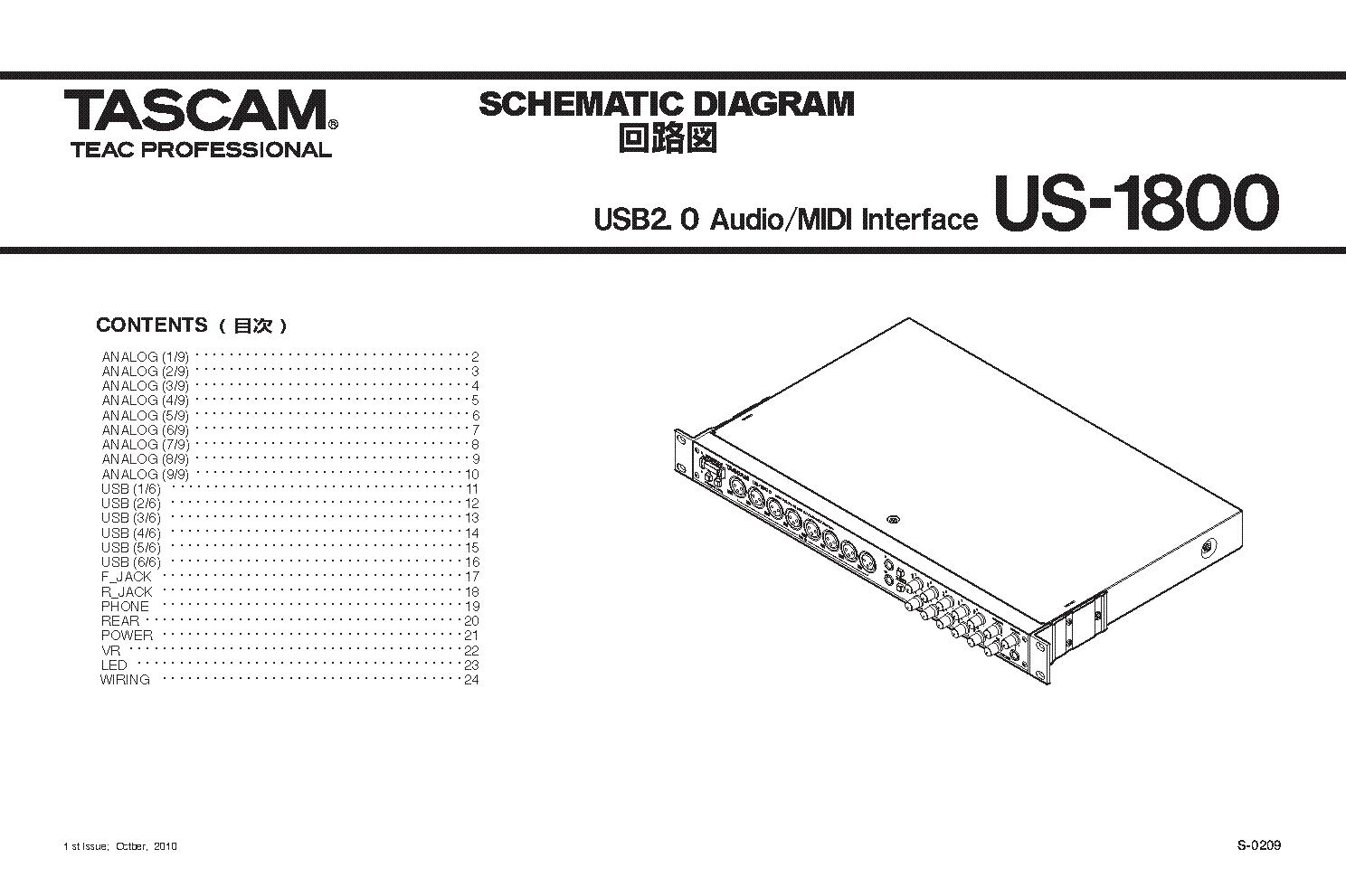 tascam us 1800 schematics service manual download schematics rh elektrotanya com