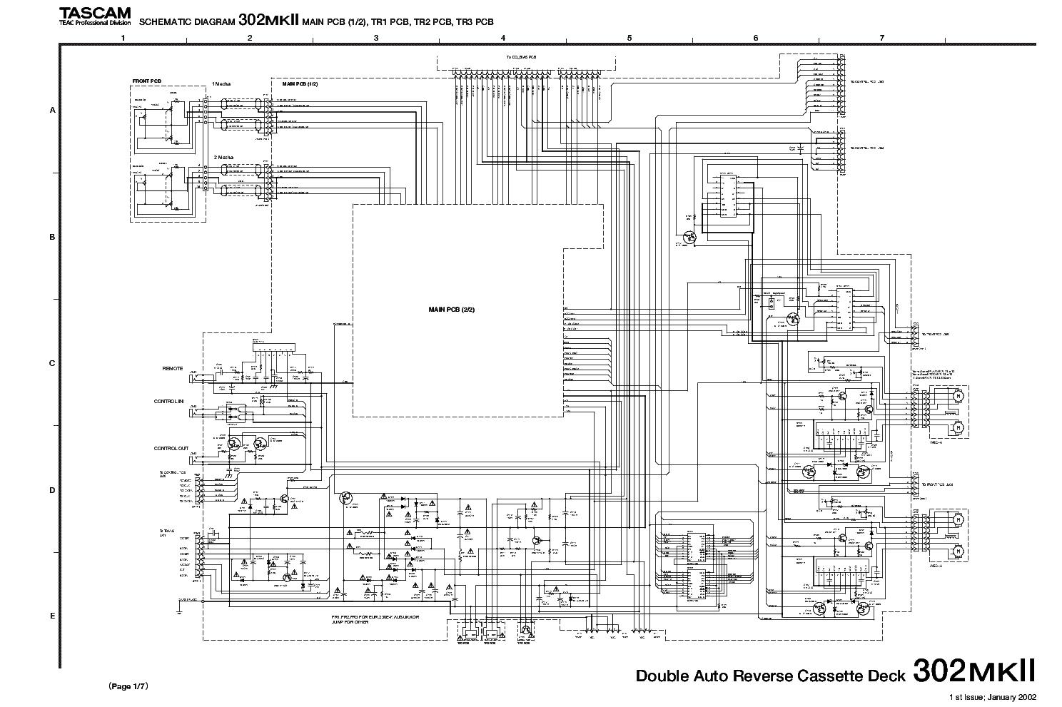 tascam 302mk2 sch service manual download, schematics, eeprom, repair info  for electronics experts  elektrotanya