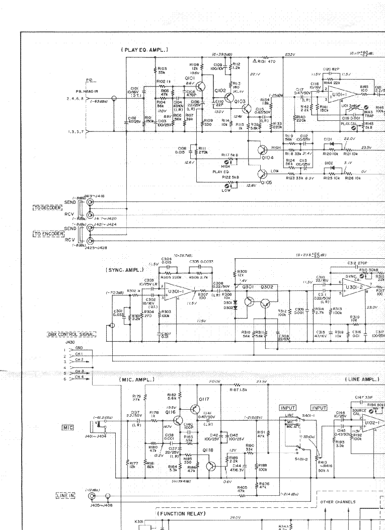 TEAC RW-H500 SM Service Manual download, schematics, eeprom