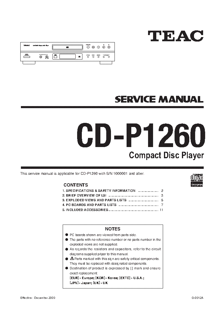 TEAC W-800R W-700R Service Manual download, schematics