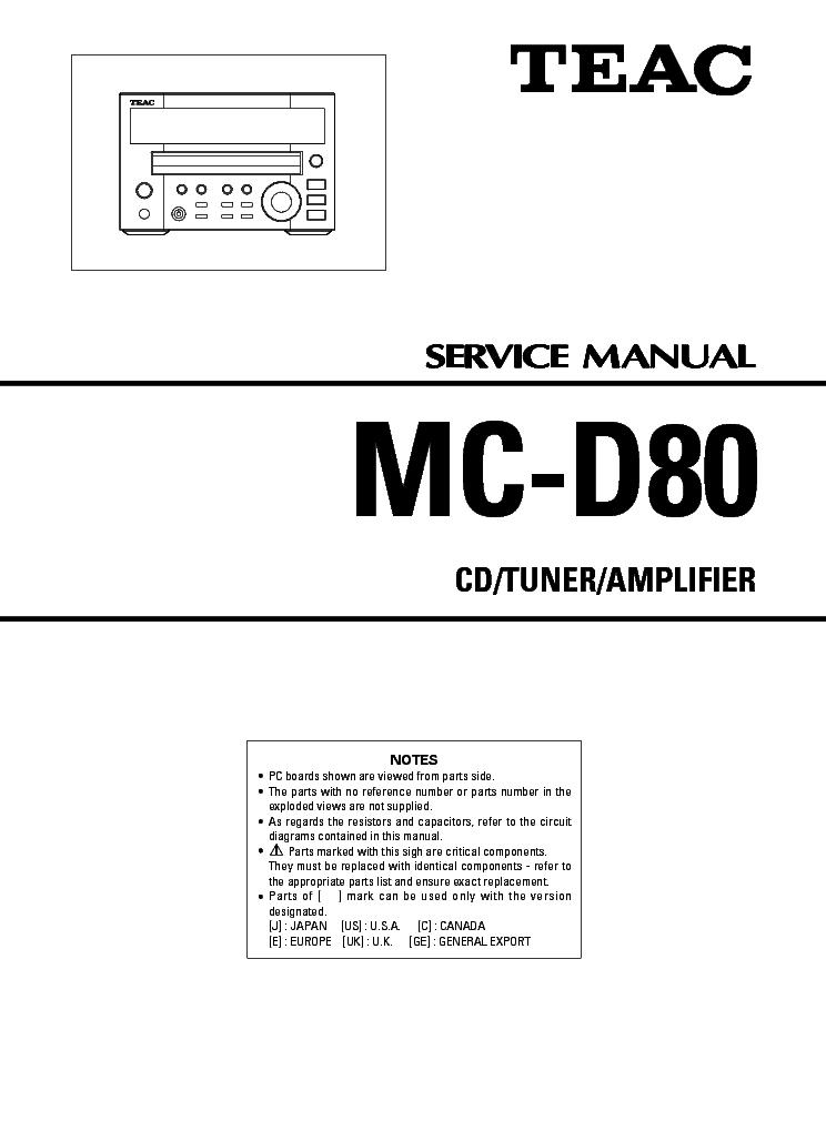 teac mc d80 sm service manual download schematics eeprom repair rh elektrotanya com teac sl-d80 user manual nikon d80 user manual pdf