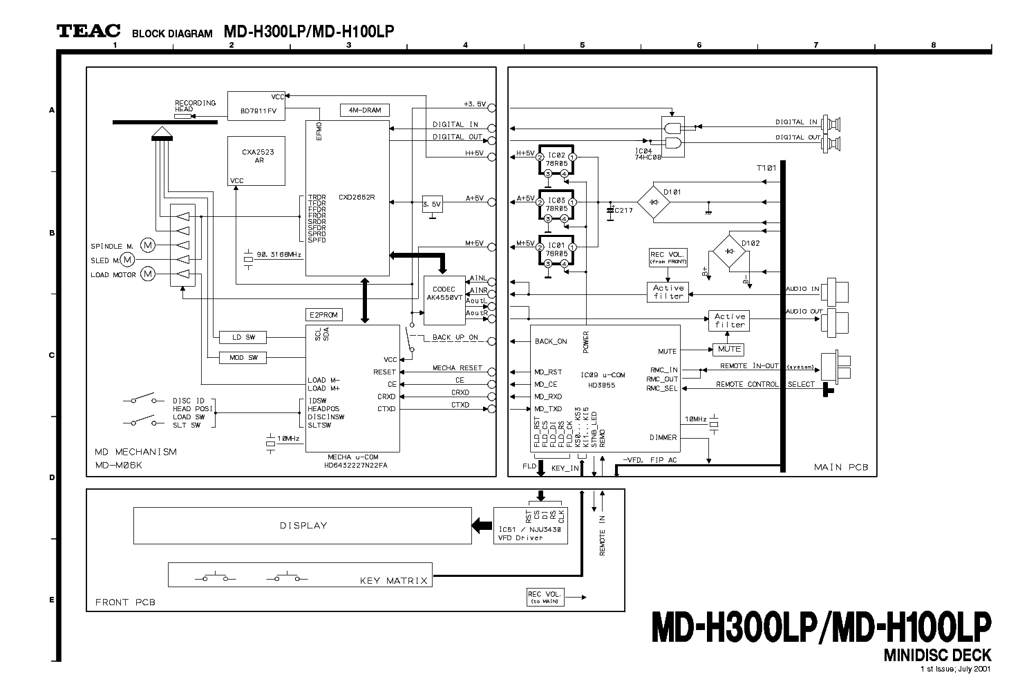 TEAC P-30 SM Service Manual download, schematics, eeprom