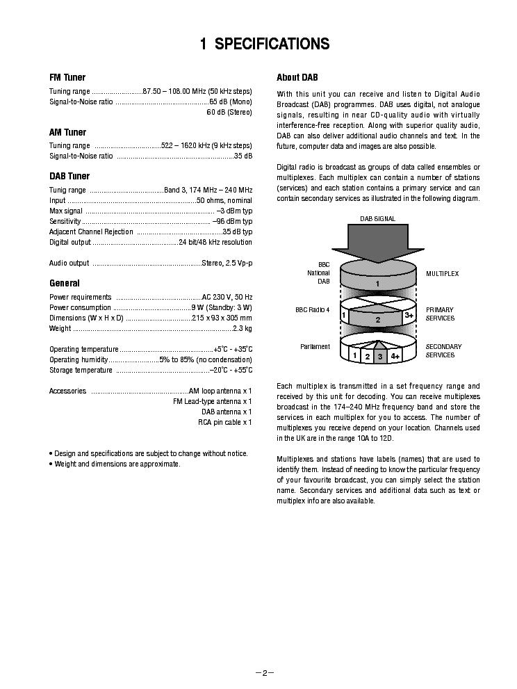 TEAC T-H300-DABMK2 SM Service Manual download, schematics