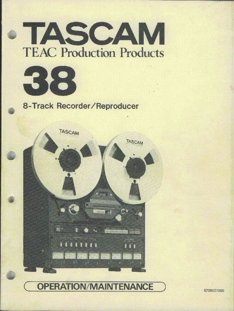 TEAC TASCAM 38 SM Service Manual download, schematics
