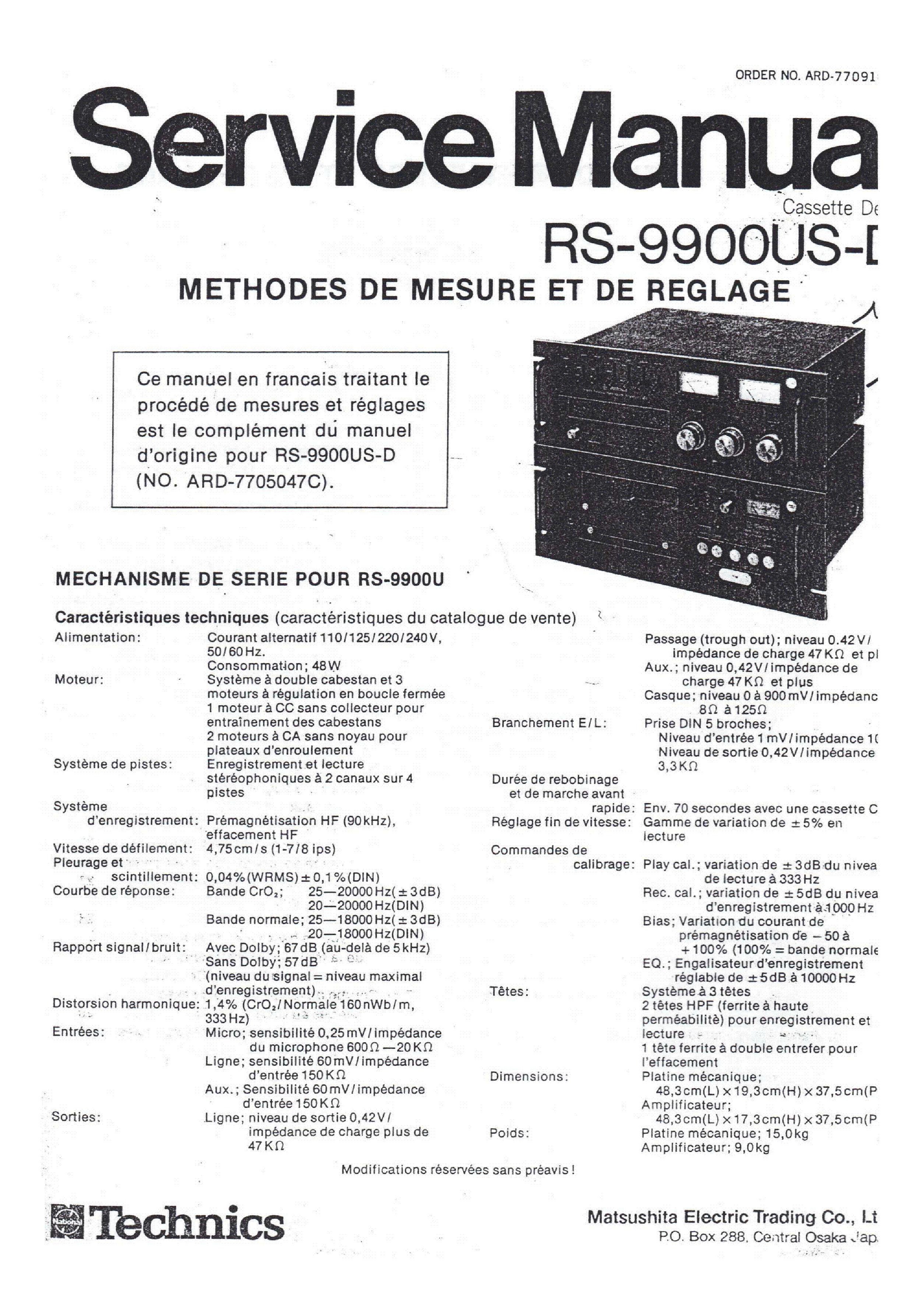 Technics Sl 10 service manual