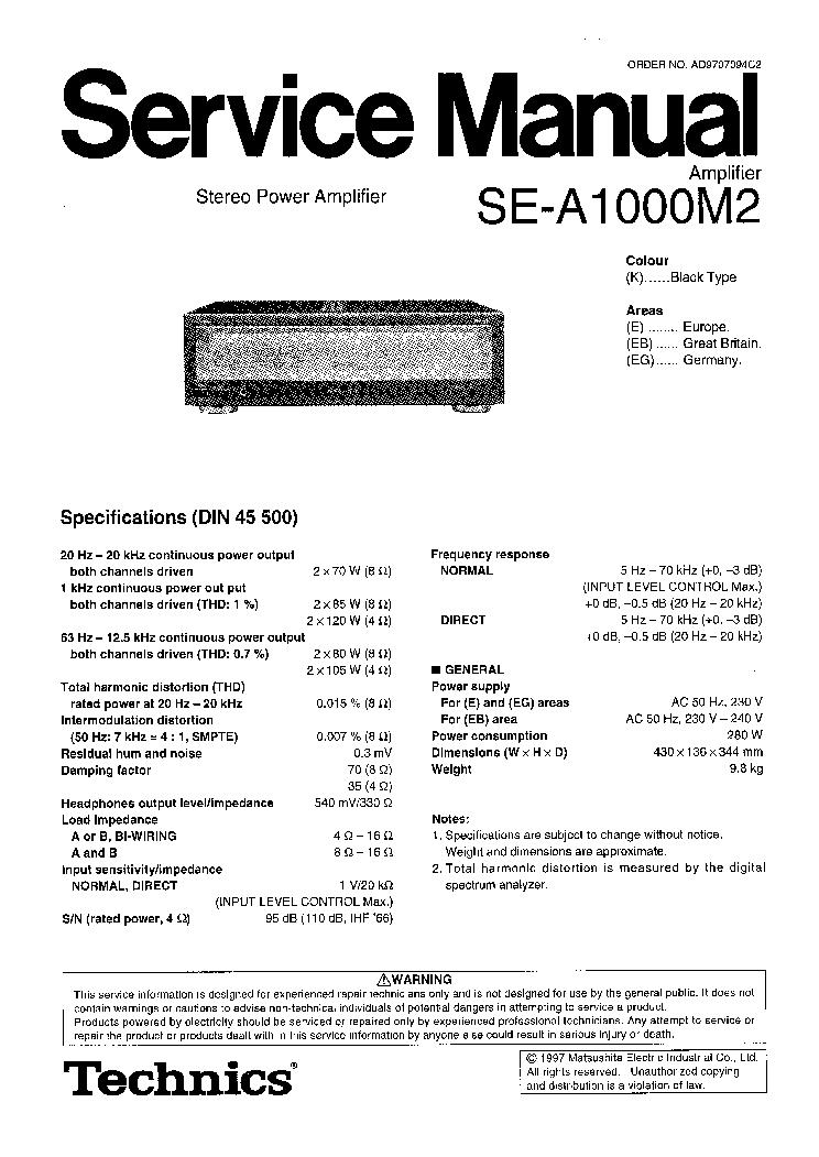 technics sl 1700 manual pdf