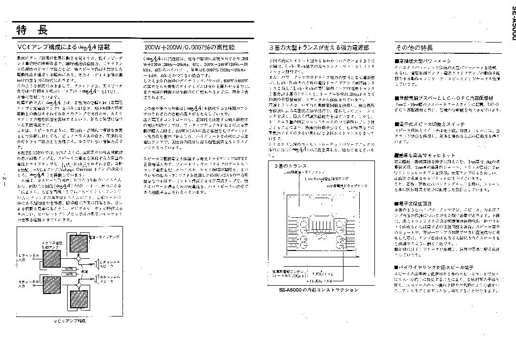TECHNICS SE-A5000 Service Manual download, schematics