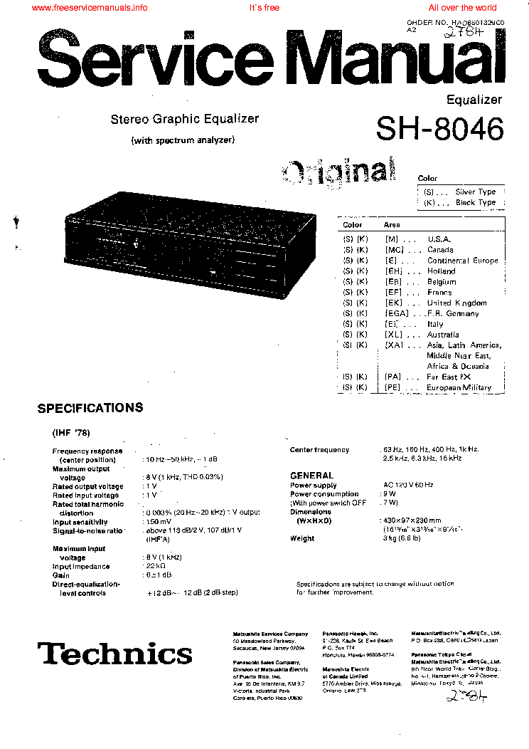 Wiring Diagram For A Technics Equalizer Get Free Image About
