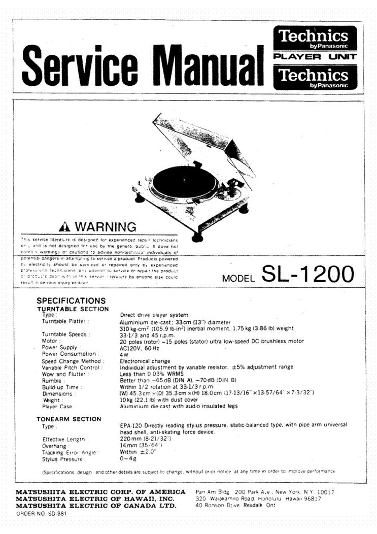 technics sl d21 turntable service manual download schematics rh elektrotanya com technics 1200 service manual sl 1200 service manual