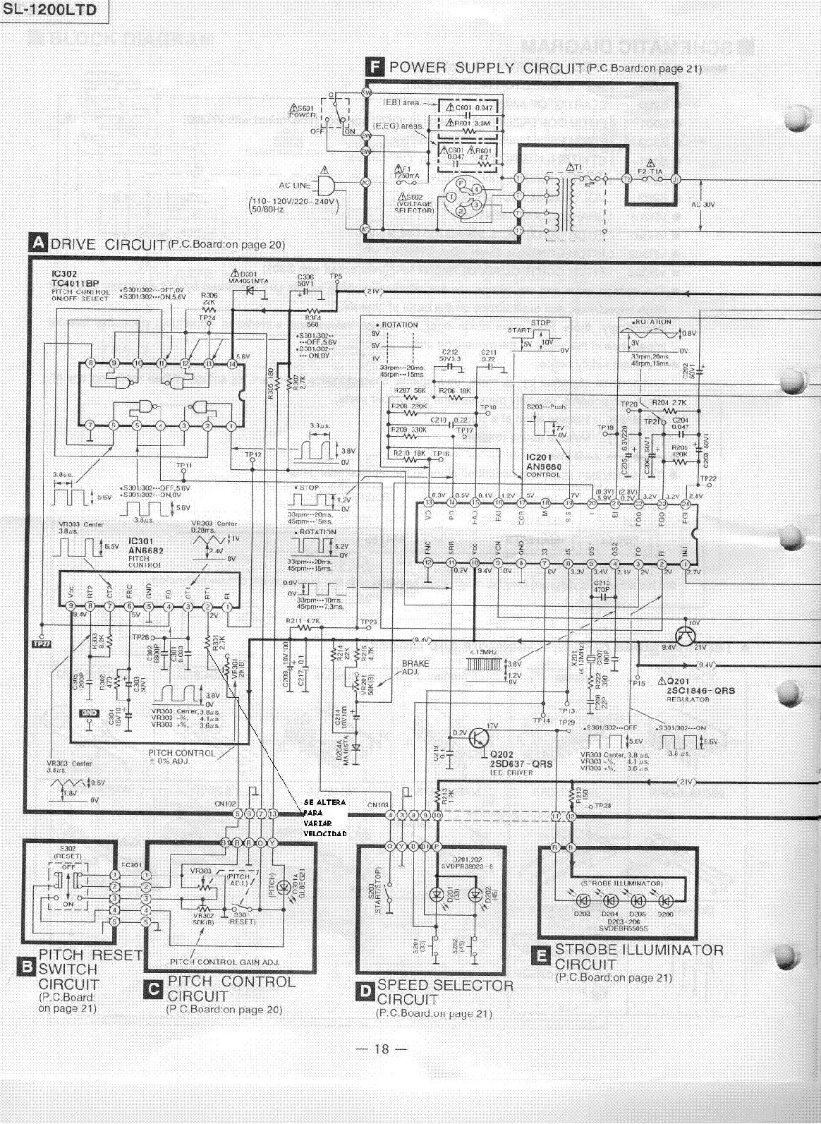 TECHNICS SL-1200LTD SCH Service Manual download ...