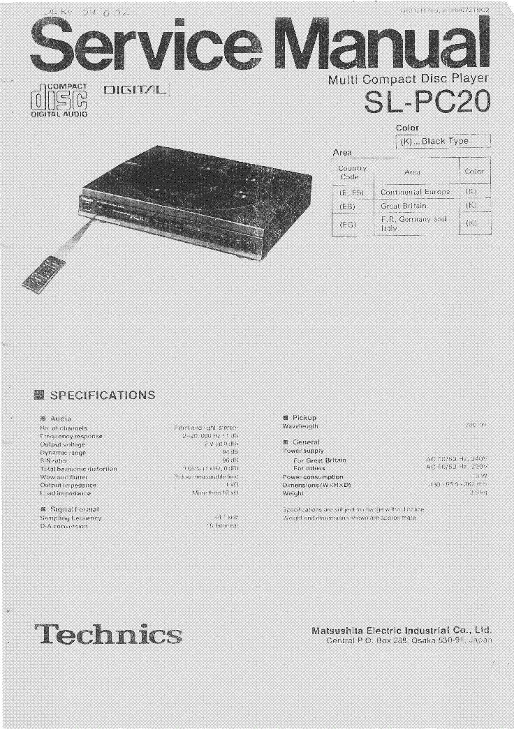 Technics Su v470 Manual