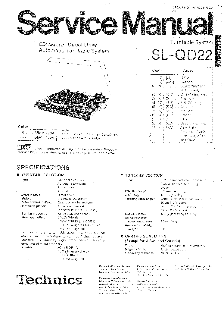 Technics Su Z1 Su Z1k Sch Service Manual Free Download