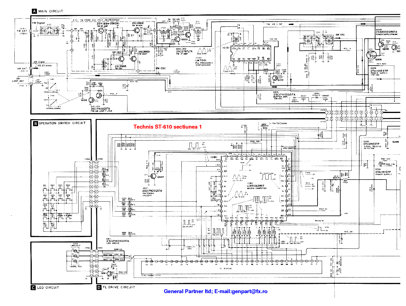Technics Wiring Diagram Detailed Schematics Service Electrical Diagrams Tape Deck