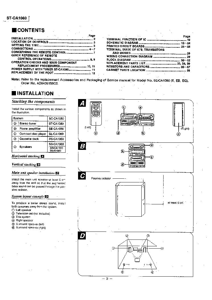 TECHNICS ST-CA1080 SM Service Manual download, schematics, eeprom