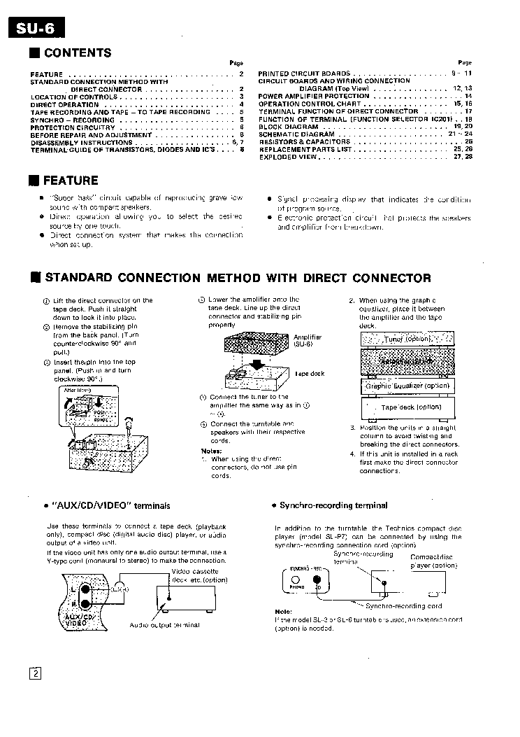TECHNICS SU-6 SM service manual (2nd page)