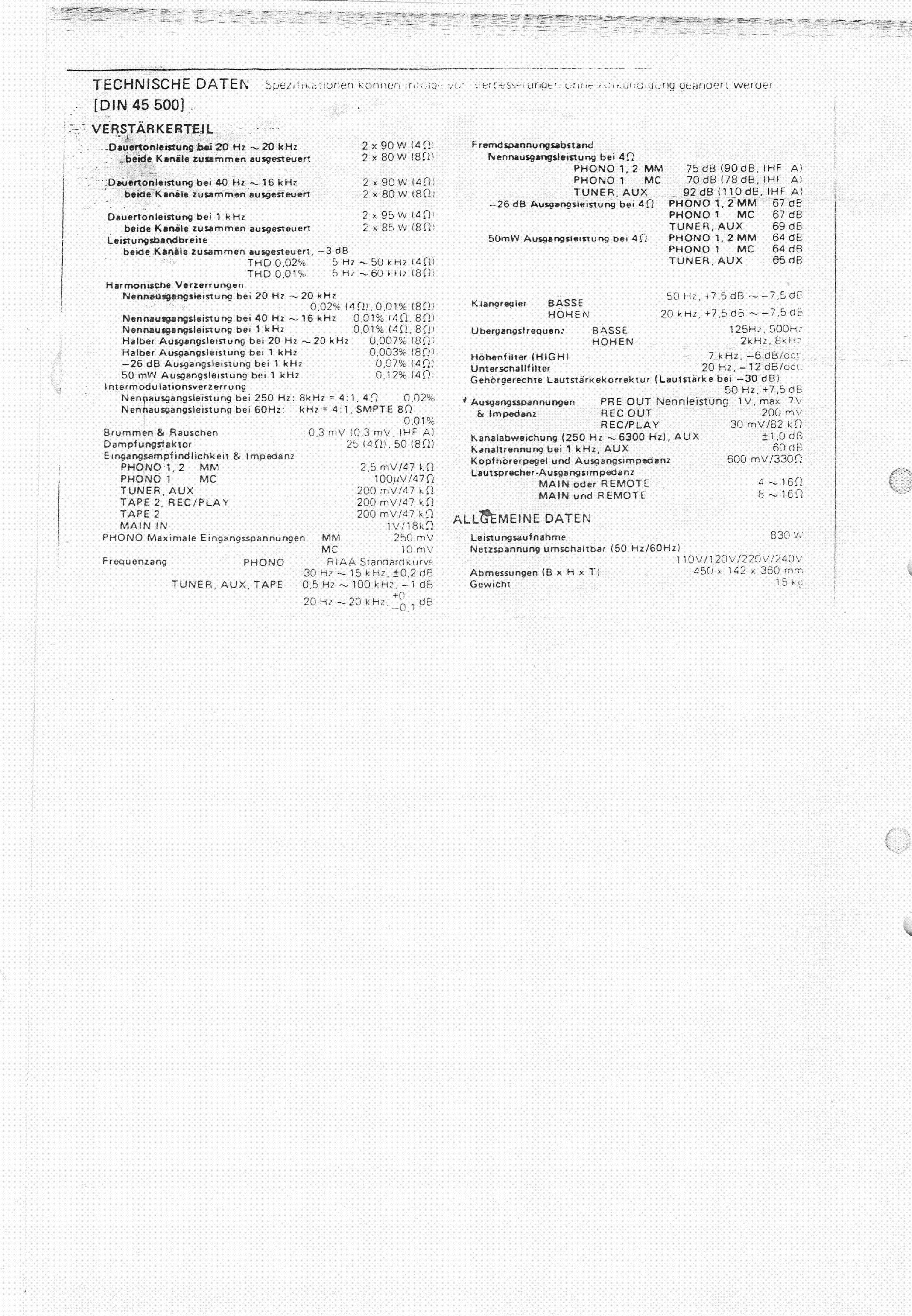 TECHNICS SU-8088K Service Manual download, schematics