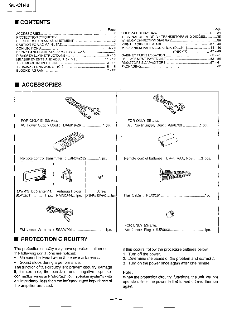 TECHNICS SU-CH40 SM service manual (2nd page)