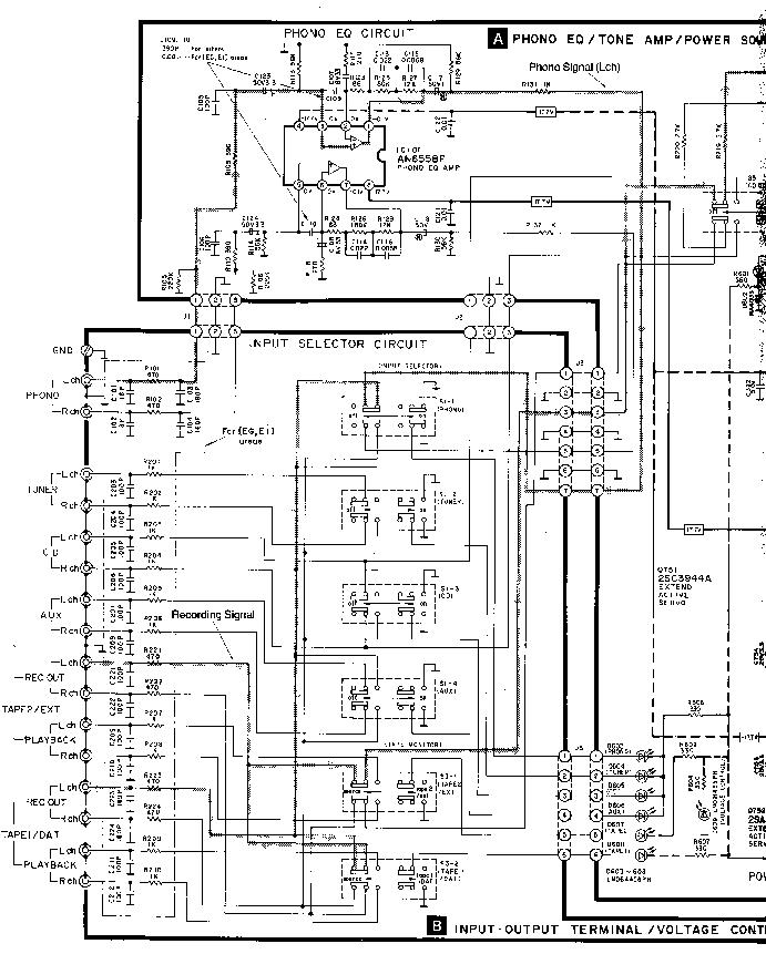 Technics Su V450 Sch Service Manual Download Schematics Eeprom