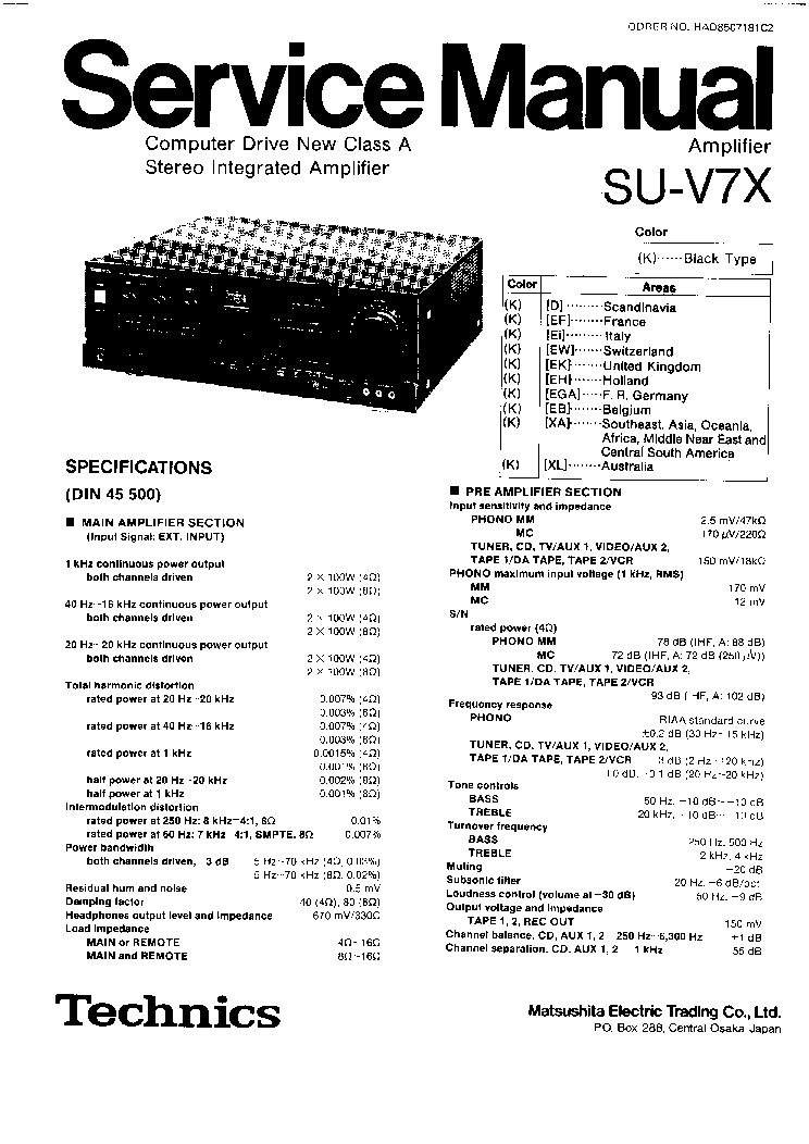 Technics Su G50 Manual Pdf