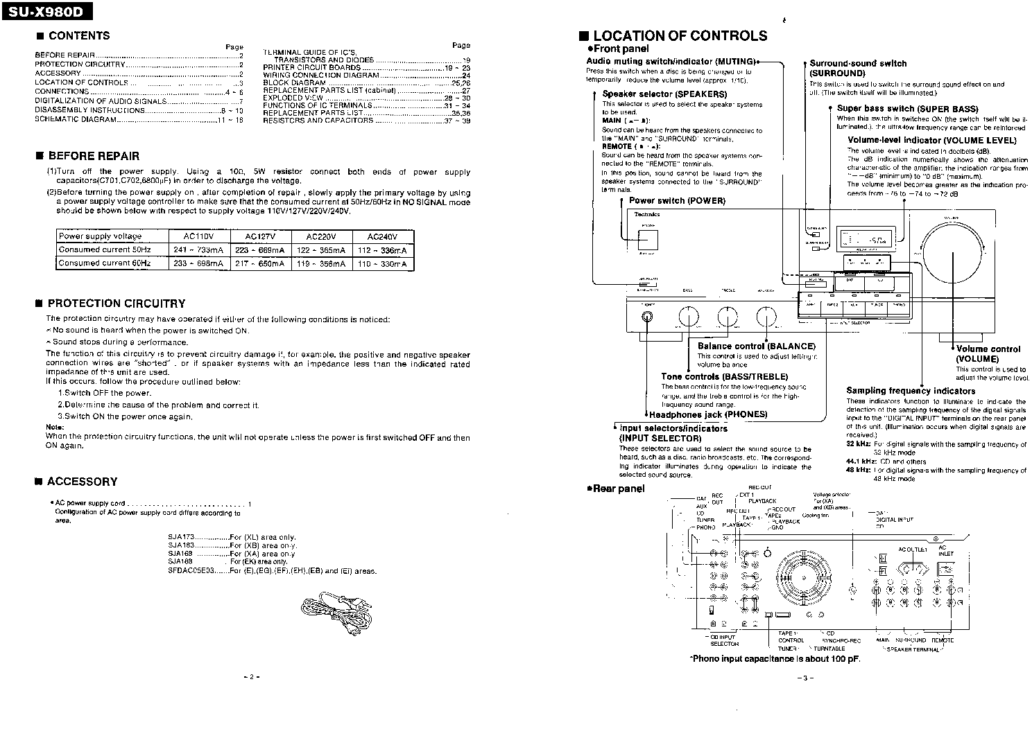 TECHNICS SU-X980D SM service manual (2nd page)
