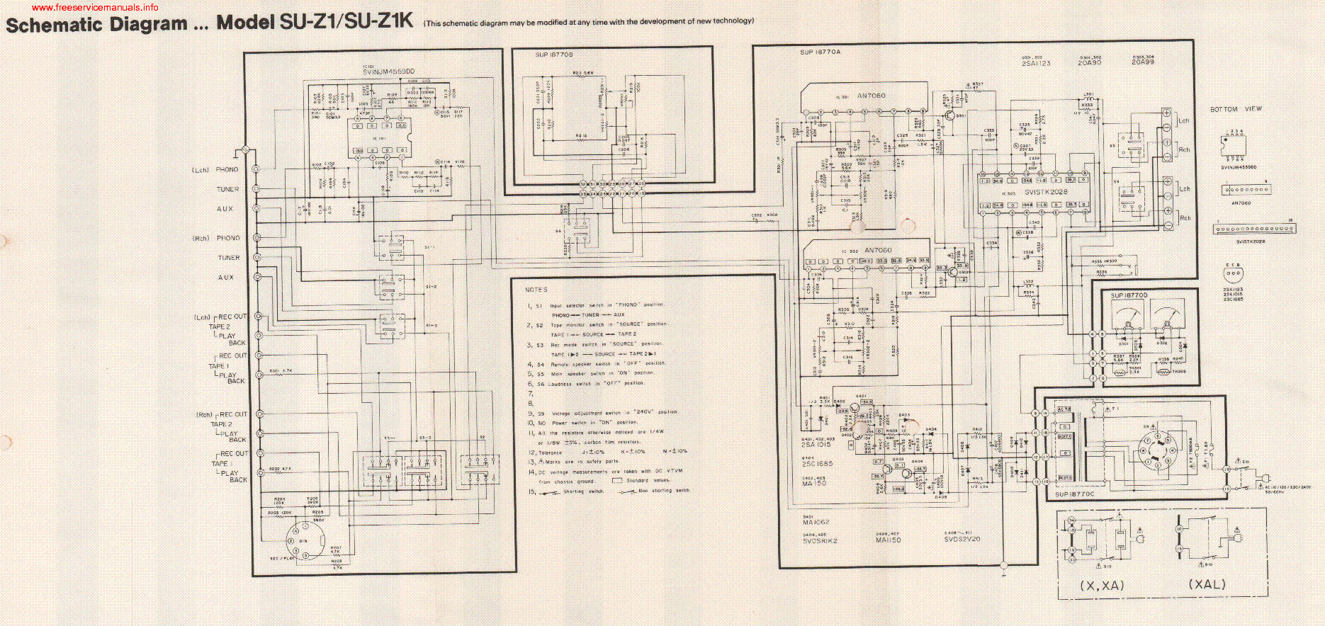 technics_su z1_su z1k_sch.pdf_1 technics sl 1200mk2 sl 1210mk2 service manual download, schematics technics wiring diagram at nearapp.co