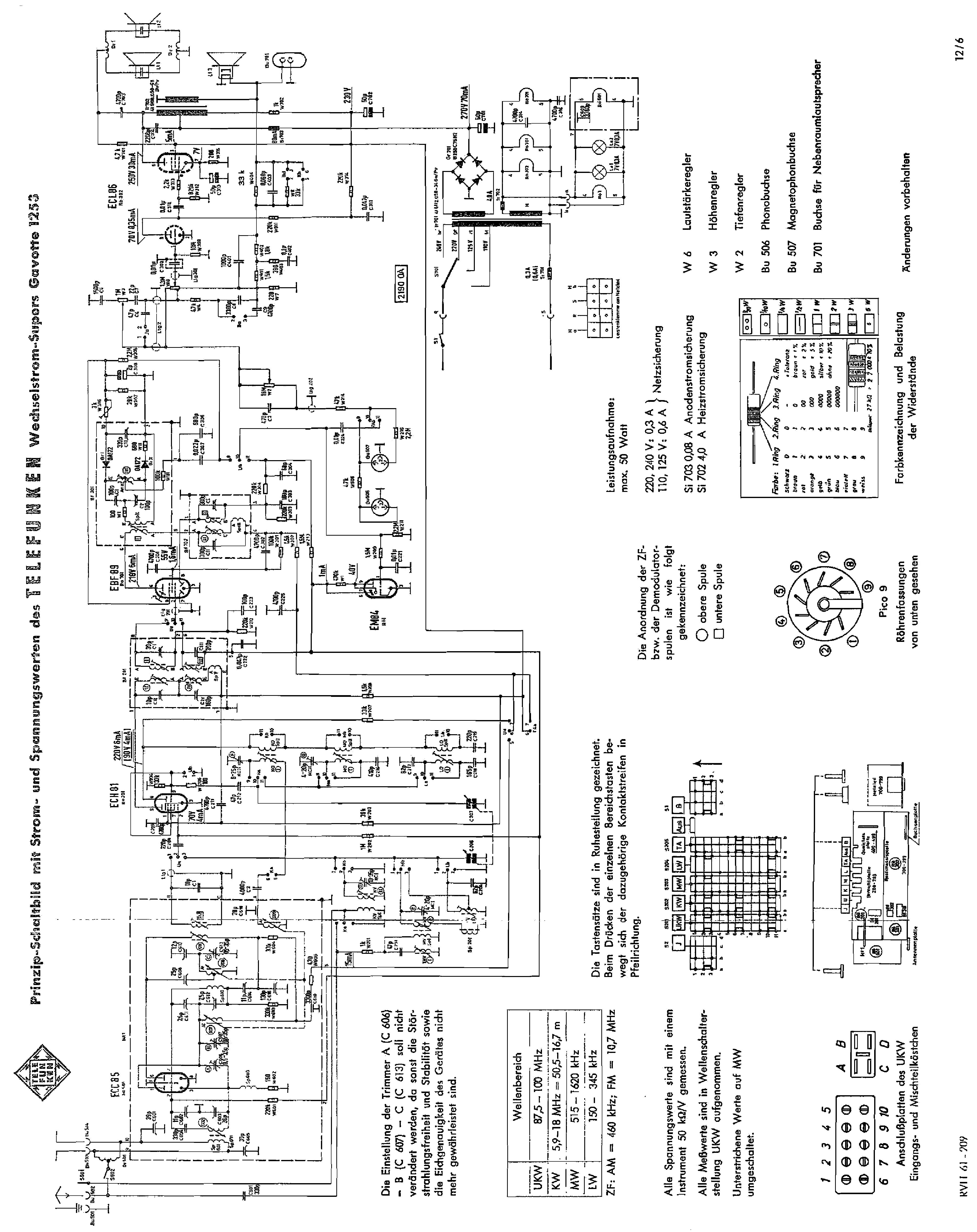 telefunken gavotte1253 radio sch service manual download schematics rh elektrotanya com Radio Telefunken Opus 7 Telefunken Operette