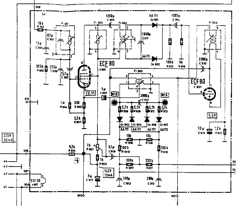 Telefunken Stereo Decoder64 Radio Sch Service Manual Download Decoder Circuit 1st Page
