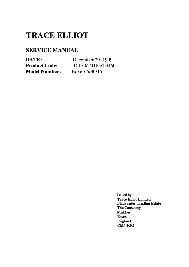 TRACE-ELLIOT BOXER-65 30 15 SCH service manual (1st page)