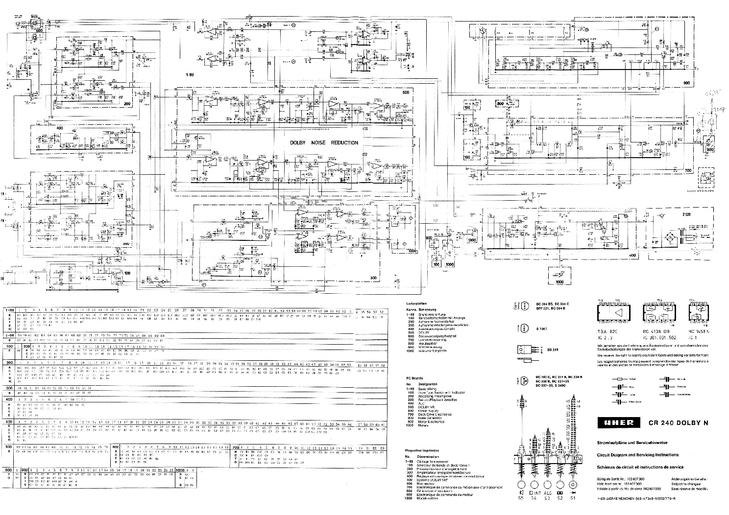 UHER CR-240-DOLBY-N SCH service manual (1st page)