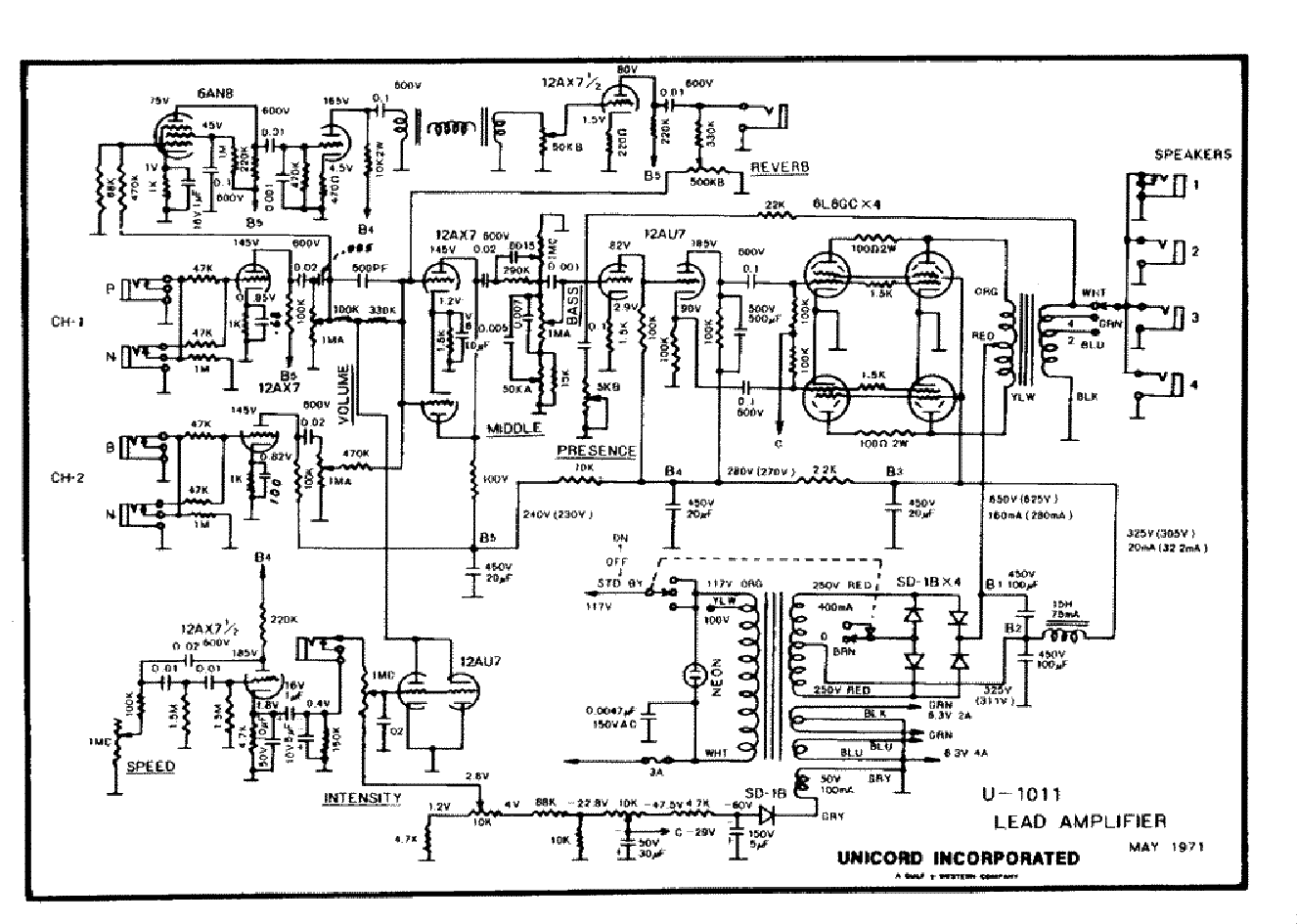 Univox Wiring Diagrams Complete Electrical Diagram Symbols Automotive Guitar Danelectro Aria Pro Ii Rh Banyan Palace Com