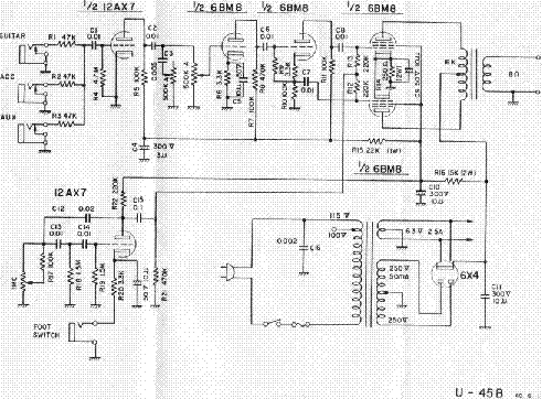 univox u 45b schematic