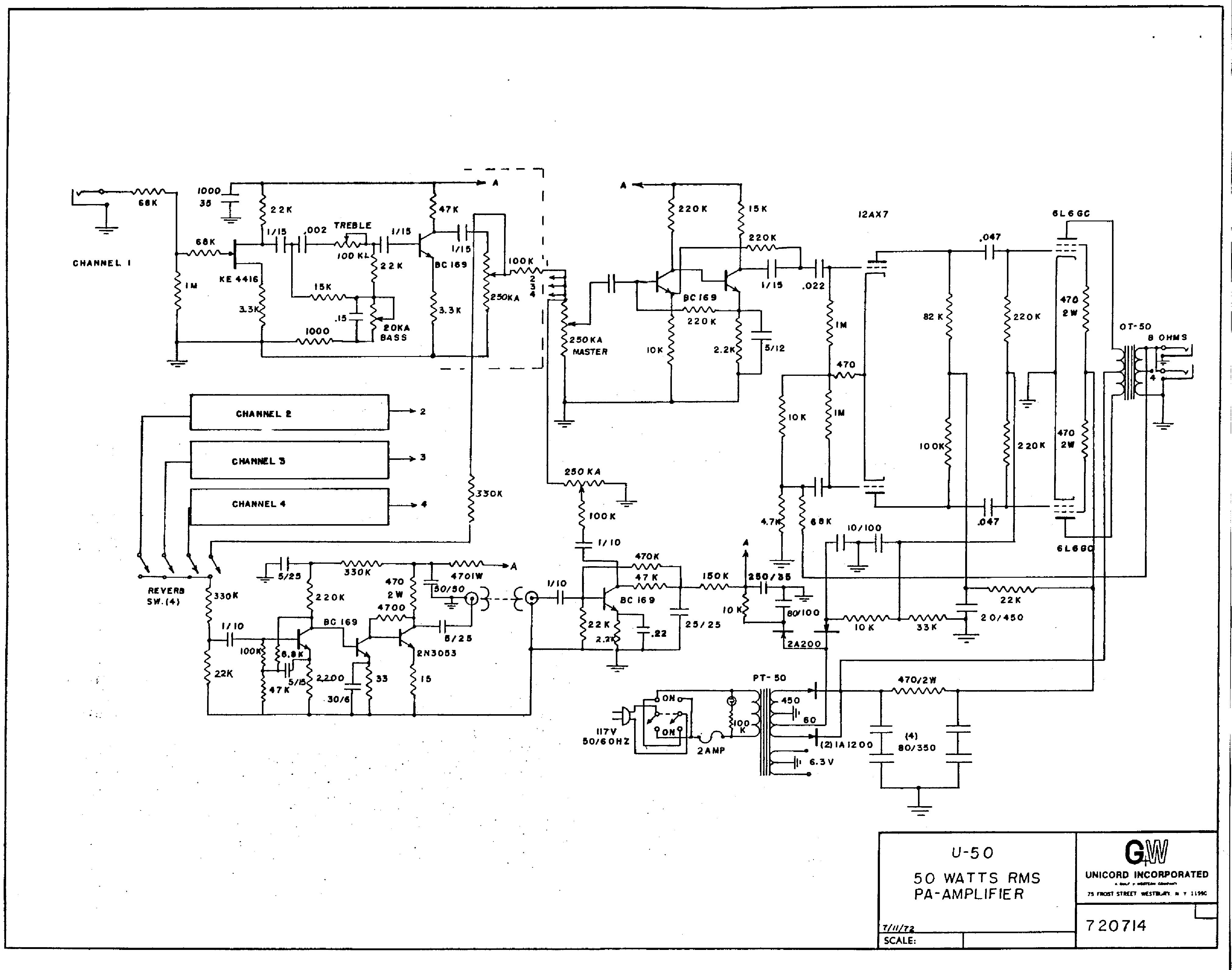 Univox Guitar Wiring Diagram : Univox u b schematic wiring diagram