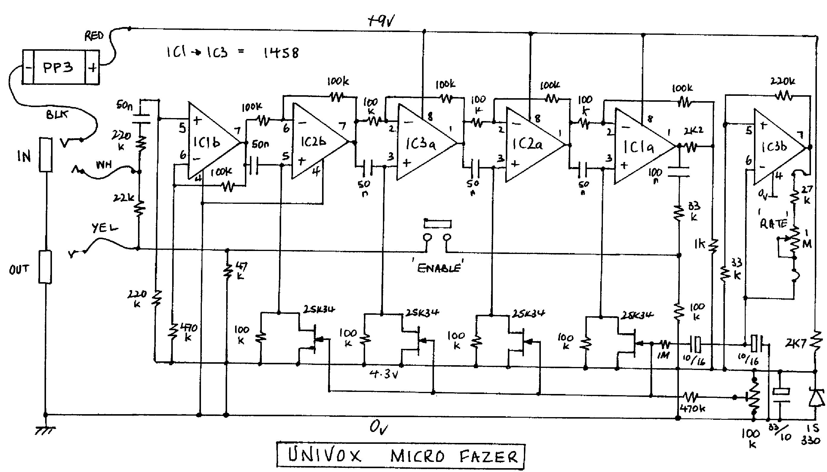 Univox U 1001 Schematic Circuit Boards Wiring Diagrams Super Fuzz Eeprom Microfazer Sch Service Manual Download Schematics Amp