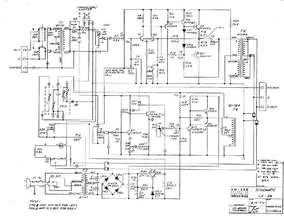 Urei Bl40 Sm Service Manual Download Schematics Eeprom Repair