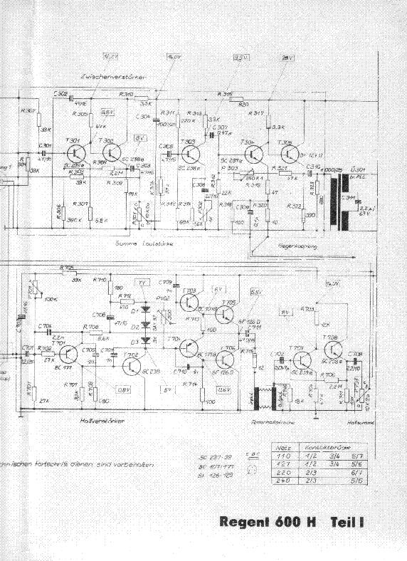 vermona regent 600h guitar audio amplifier sch service. Black Bedroom Furniture Sets. Home Design Ideas