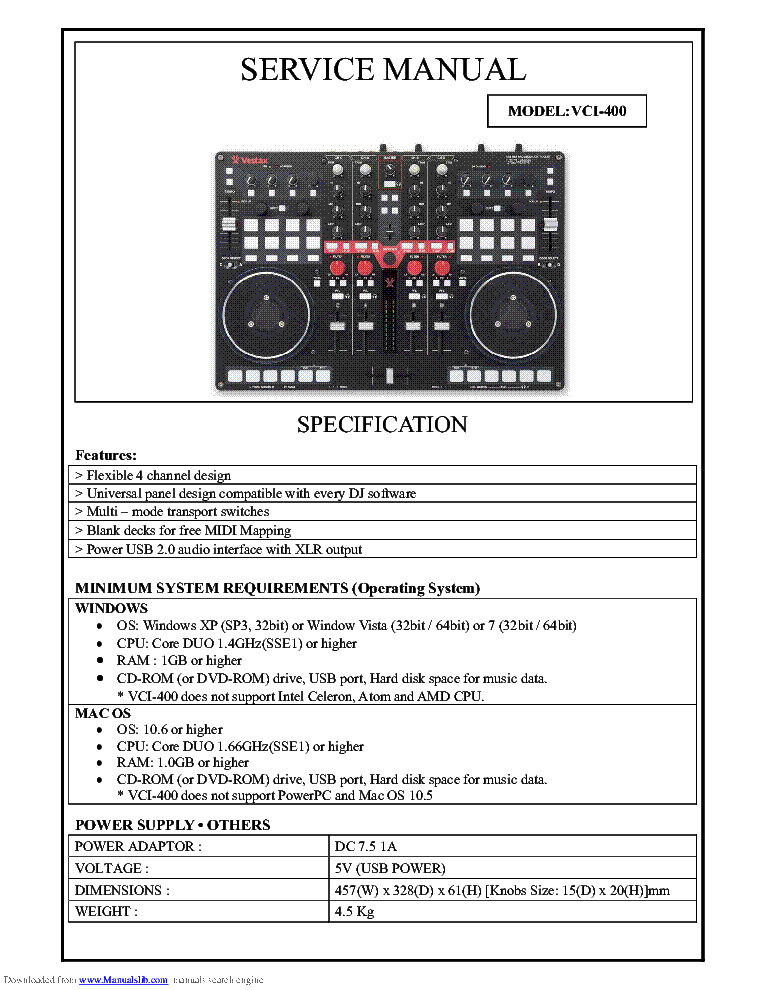 Vestax vci-300 mkii skin decal | custom dj skins for your vci300.