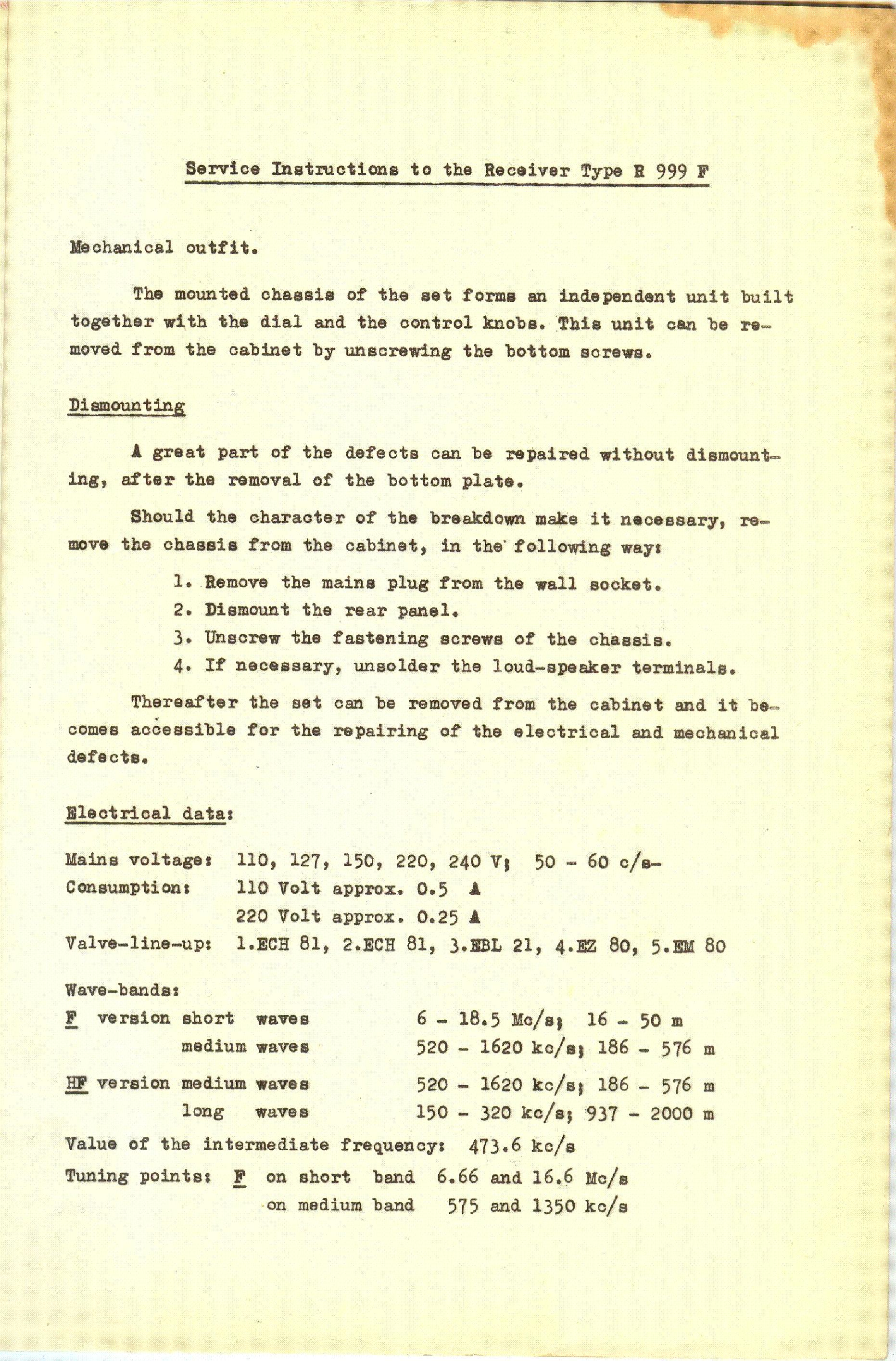 VT R 999 F RADIO Service Manual download, schematics, eeprom