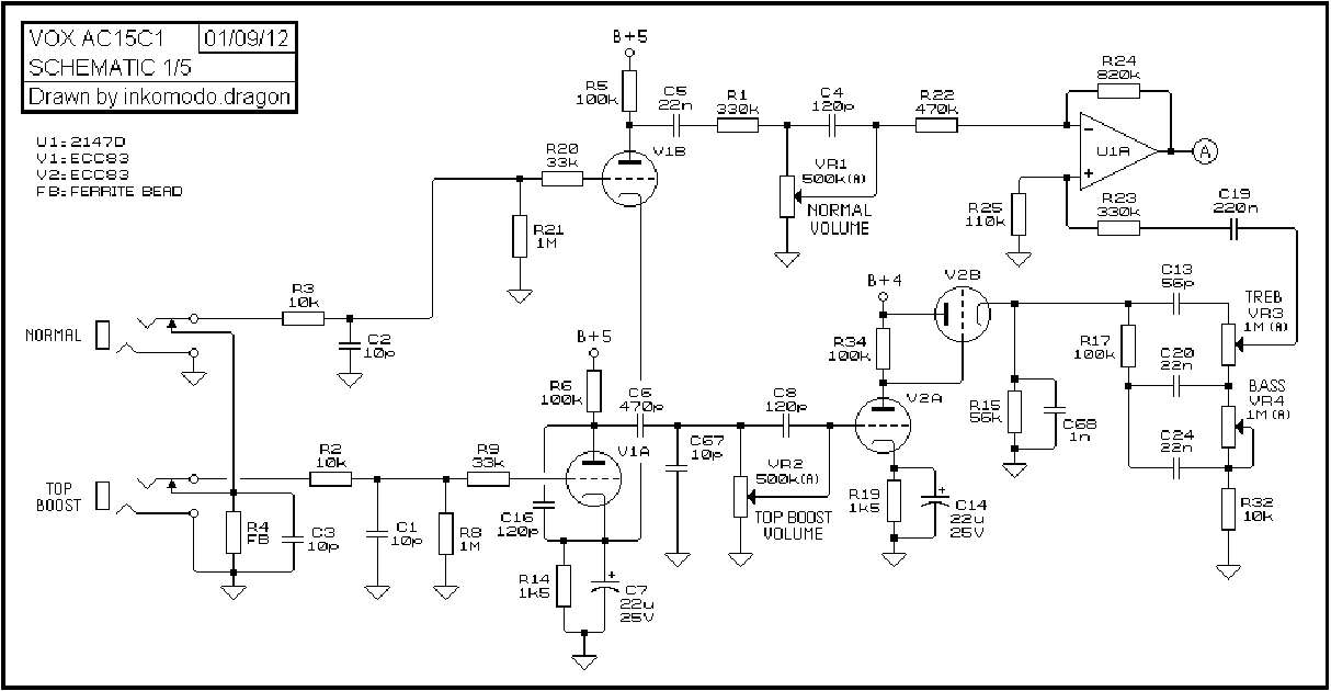 vox pathfinder 10 schematic  | diagramschematics.us