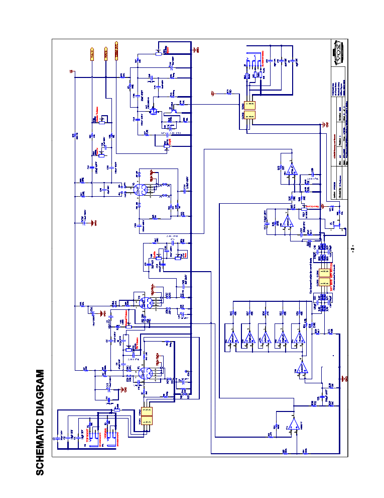 VOX AC15C1 SM Service Manual download, schematics, eeprom ... on